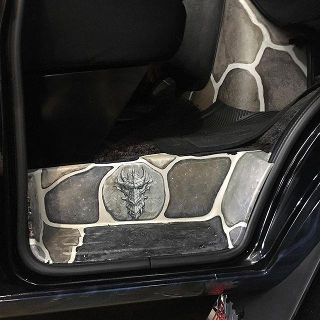 "2000 Dodge Ram Van B1500 ""The Dragon Lord"", interior photo, 04."