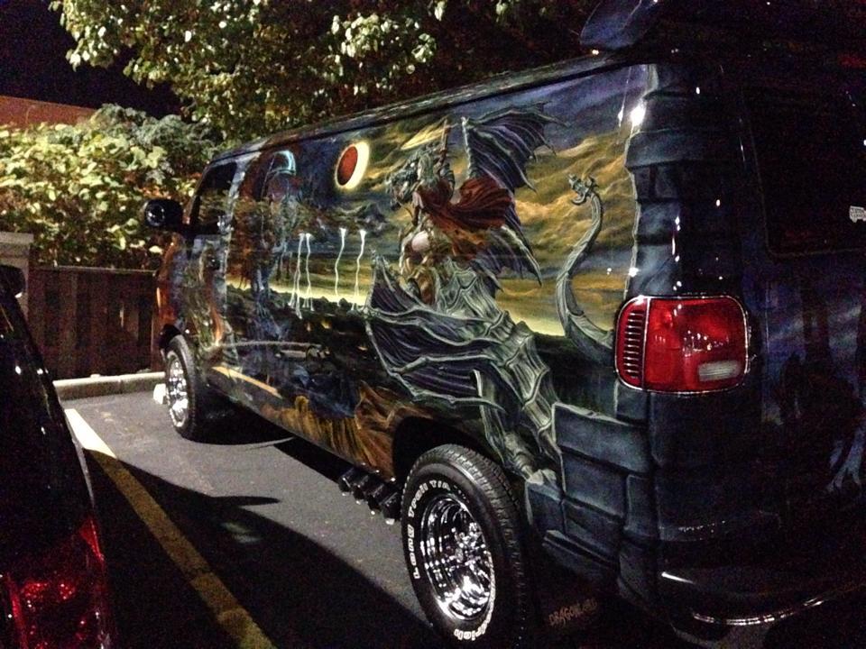 "2000 Dodge Ram Van B1500 ""The Dragon Lord"", night photo, 03."