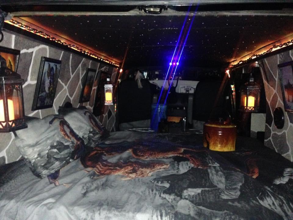 """2000 Dodge Ram Van B1500 """"The Dragon Lord"""", night illumination photo, 01."""