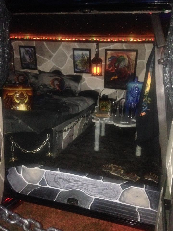 """2000 Dodge Ram Van B1500 """"The Dragon Lord"""", night illumination photo, 02."""