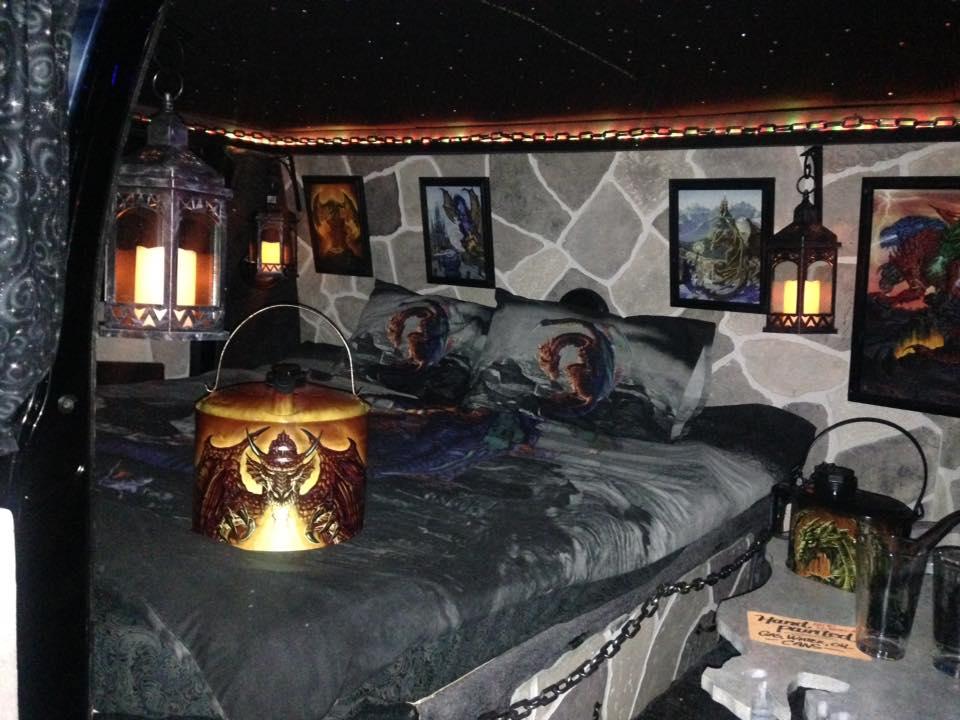 """2000 Dodge Ram Van B1500 """"The Dragon Lord"""", night illumination photo, 03."""