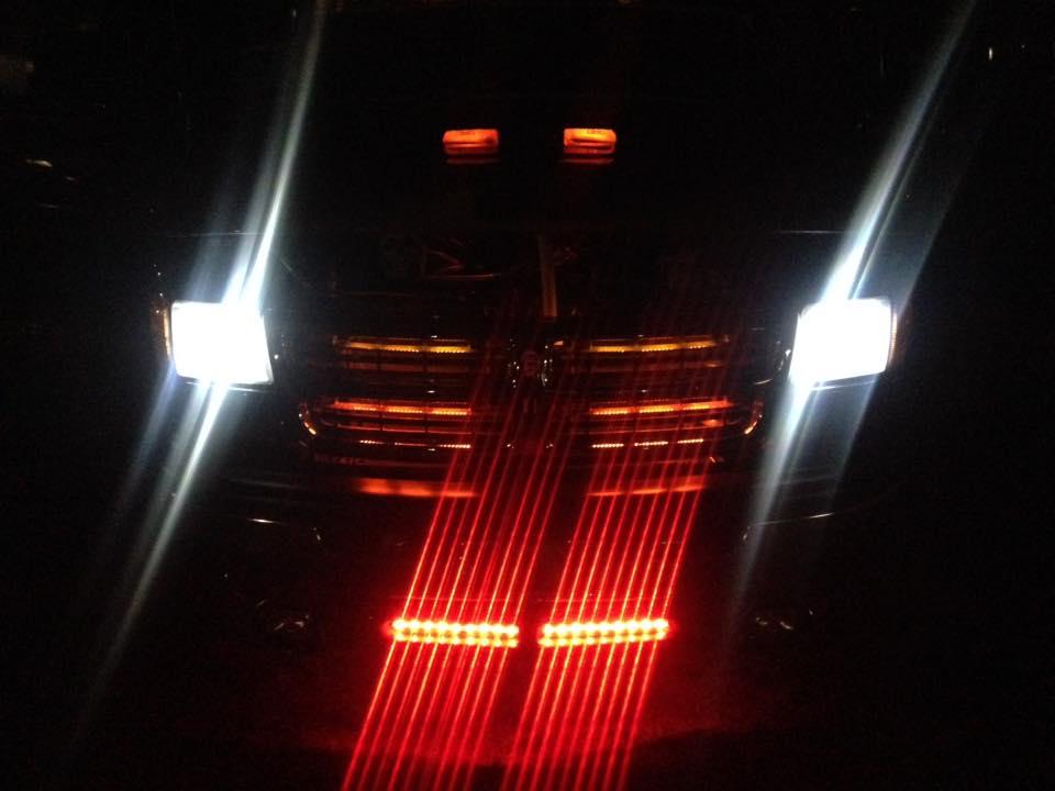 """2000 Dodge Ram Van B1500 """"The Dragon Lord"""", night illumination photo, 04."""