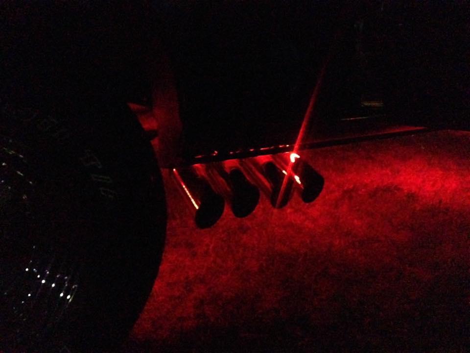 """2000 Dodge Ram Van B1500 """"The Dragon Lord"""", night illumination photo, 05."""
