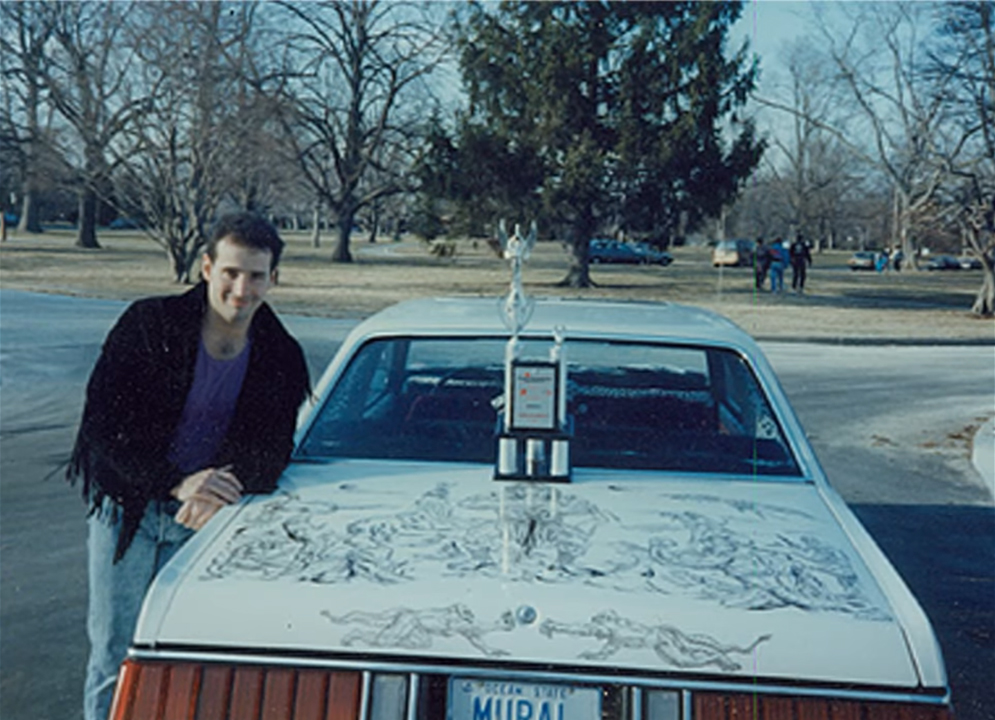 Ed Beard jr. and one of his early cars - 1980 Ford Fairmont Futura - in the 80's.
