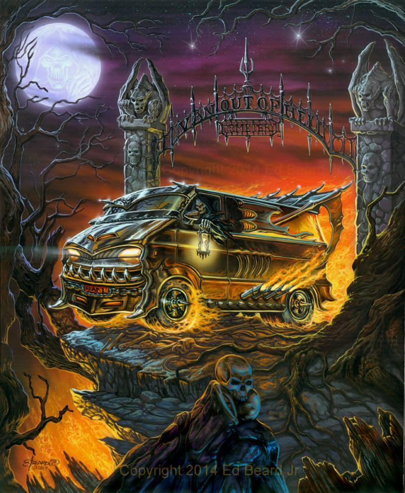 """Ed Beard Jr. van art """"Van Out Of Hell""""."""