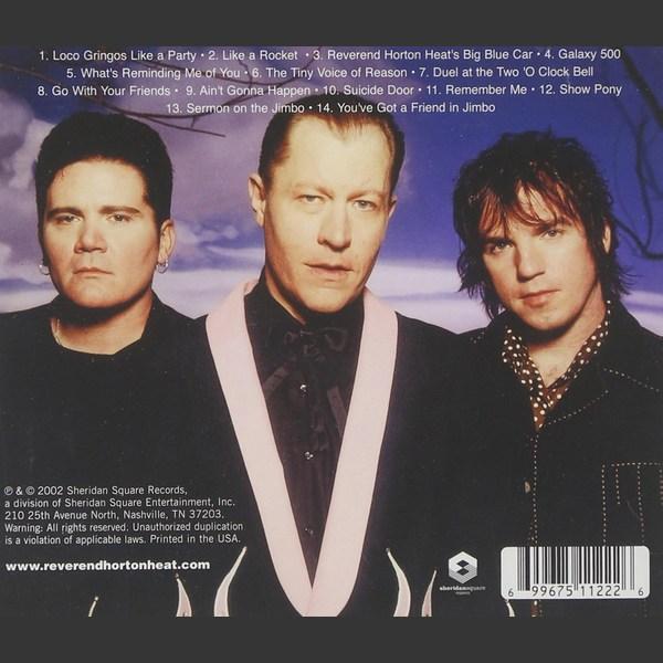 Reverend Horton Heat, Lucky 7, CD back cover