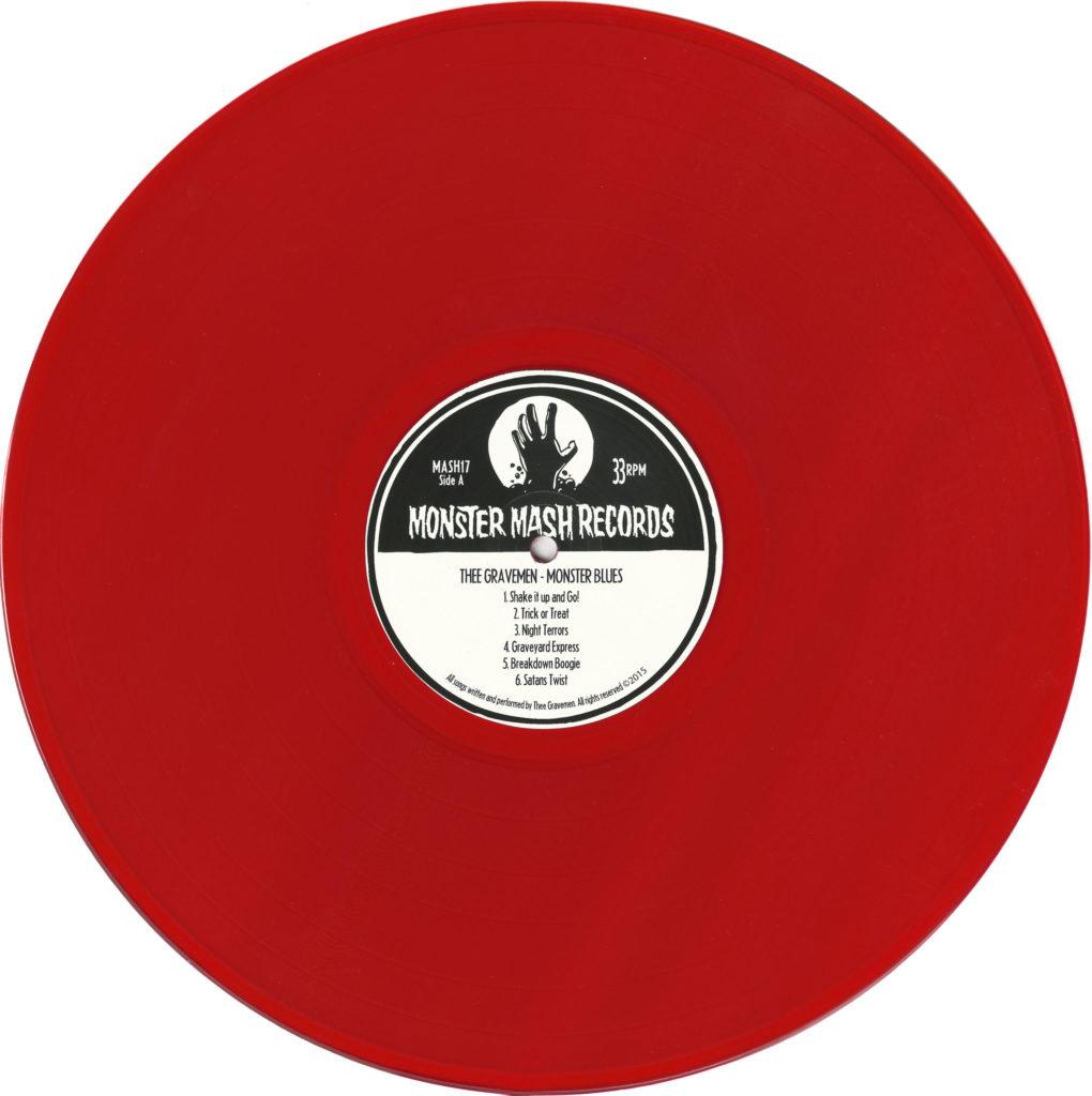 Thee Gravemen, Monster Blues, vinyl, red
