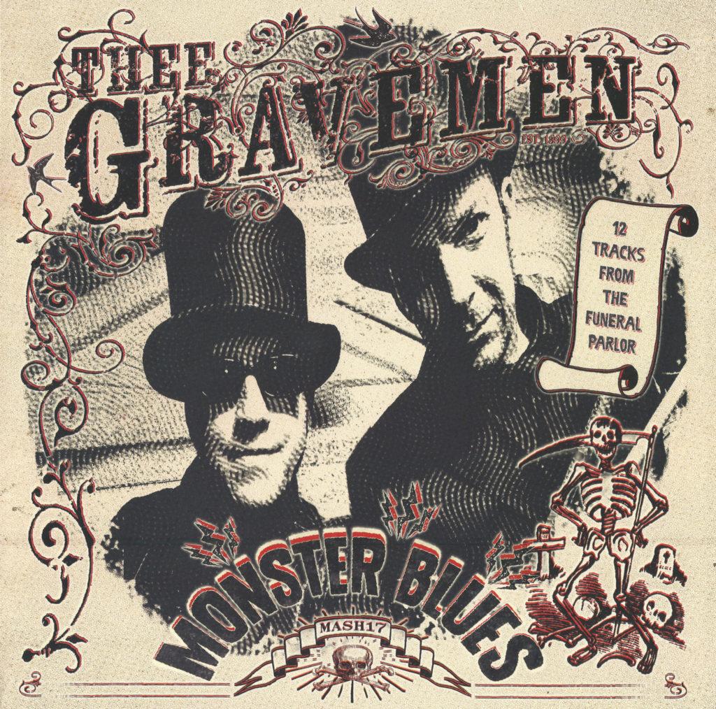 Thee Gravemen - Monster Blues (2015), front sleeve scan.
