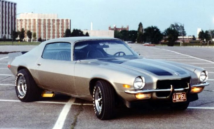 Mildly custom Camaro from the 70's.