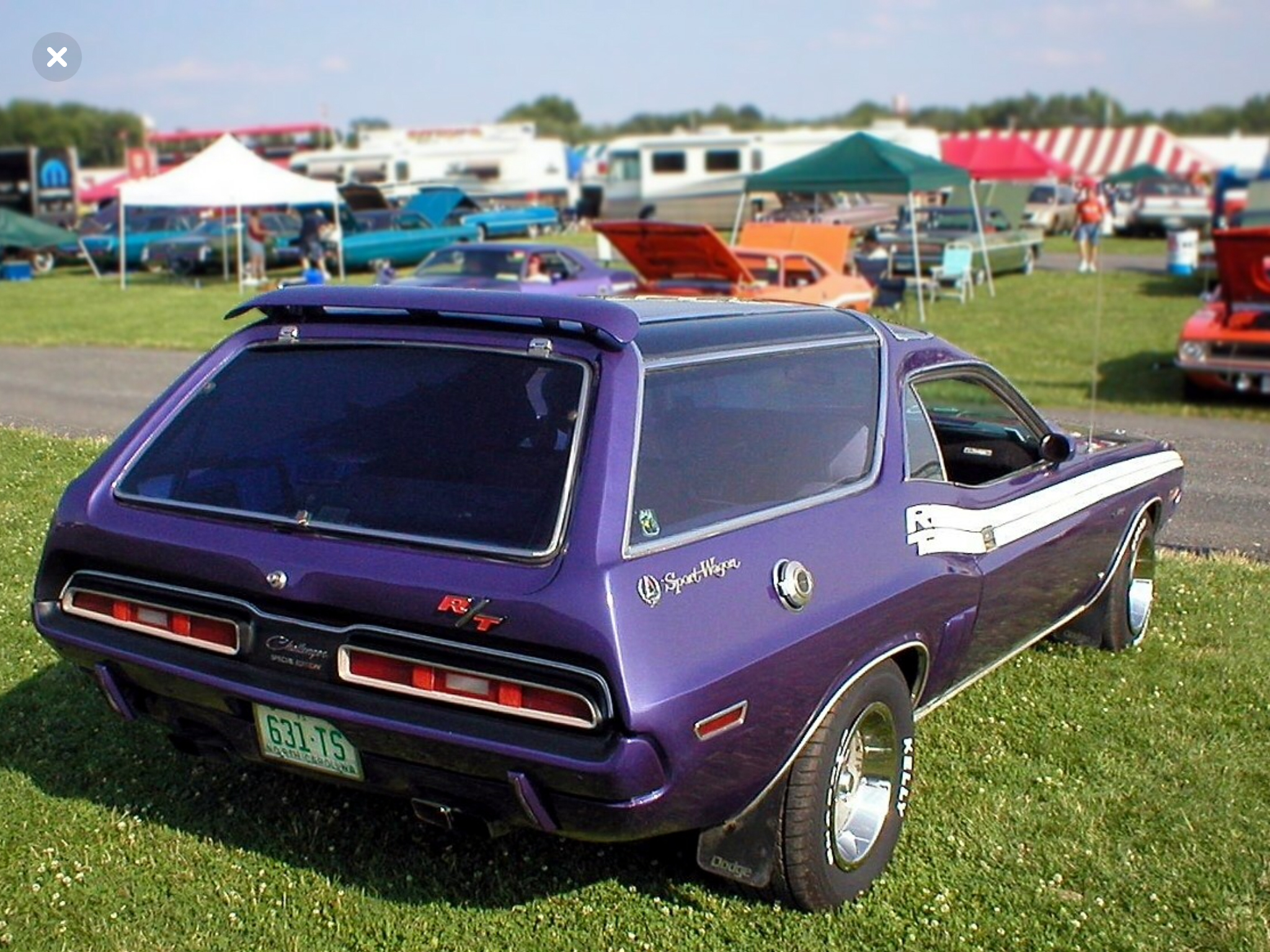 Challenger wagon from the 70's, rear.