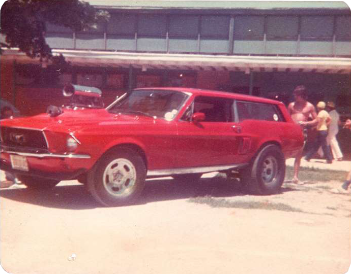 Mustang wagon from the 70's.