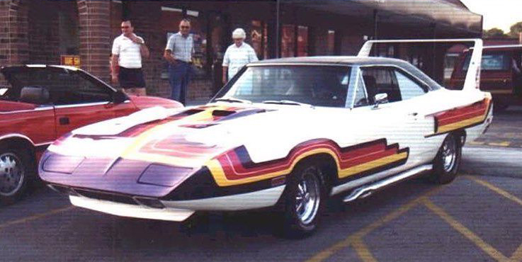 Mildly custom Superbird from the 70's, front.