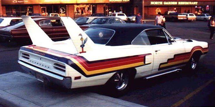 Mildly custom Superbird from the 70's, rear.