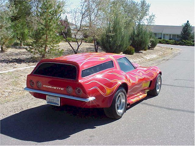 Russ Eierman's 1973 Vette Wagon, rear.