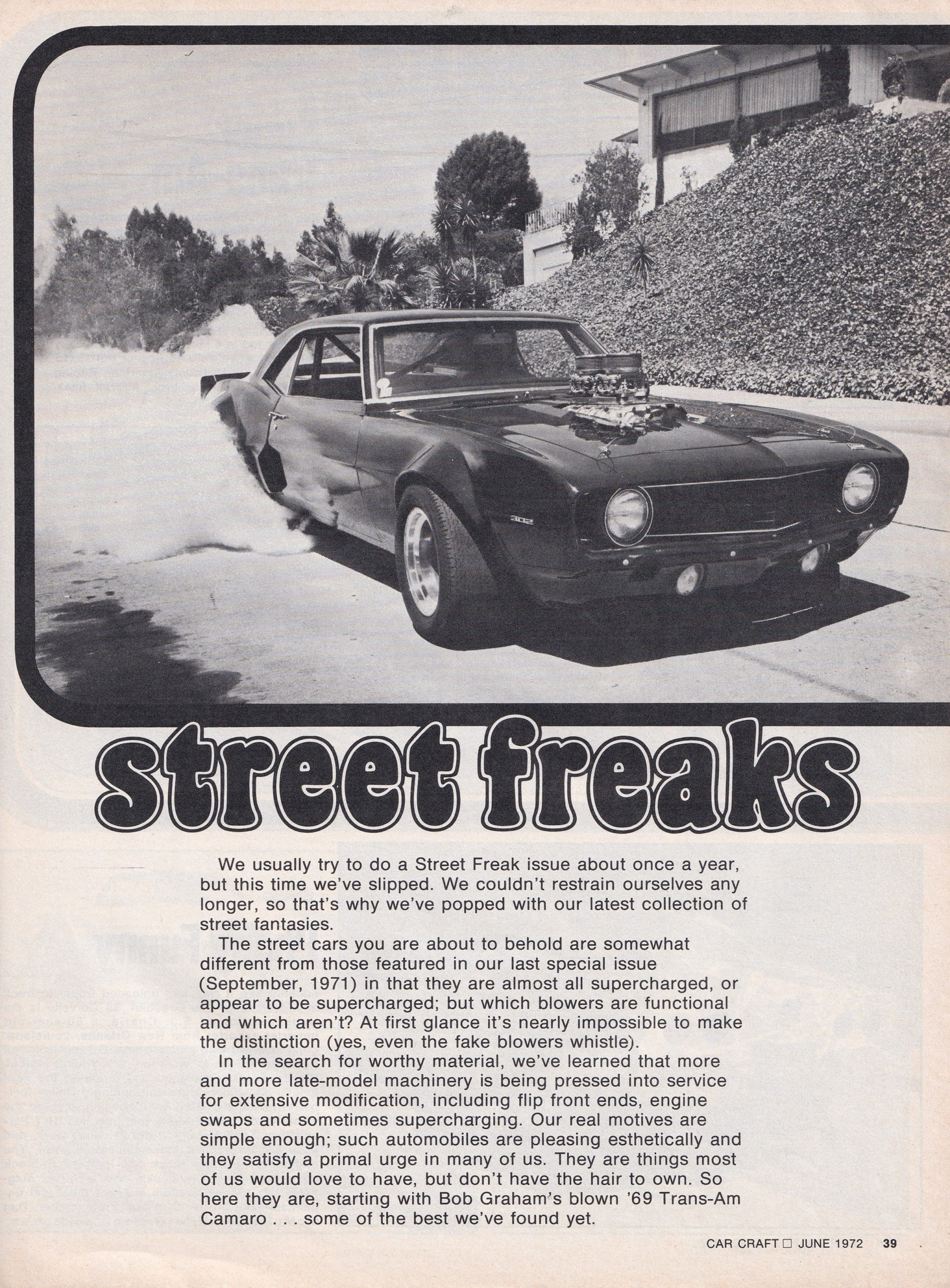 Street Freaks section from June 1972 issue of Car Craft, page 1.