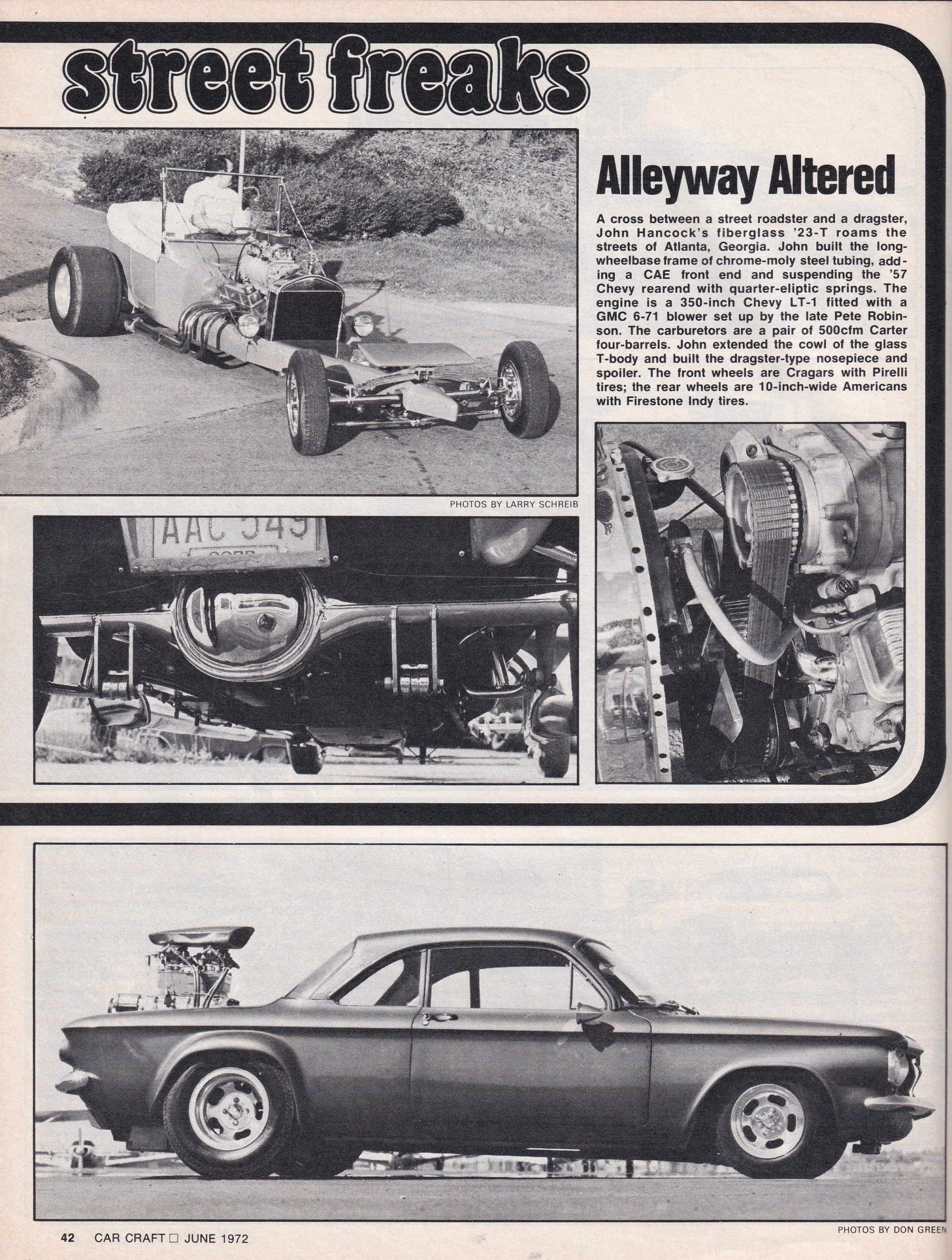 Street Freaks section from June 1972 issue of Car Craft, page 4.