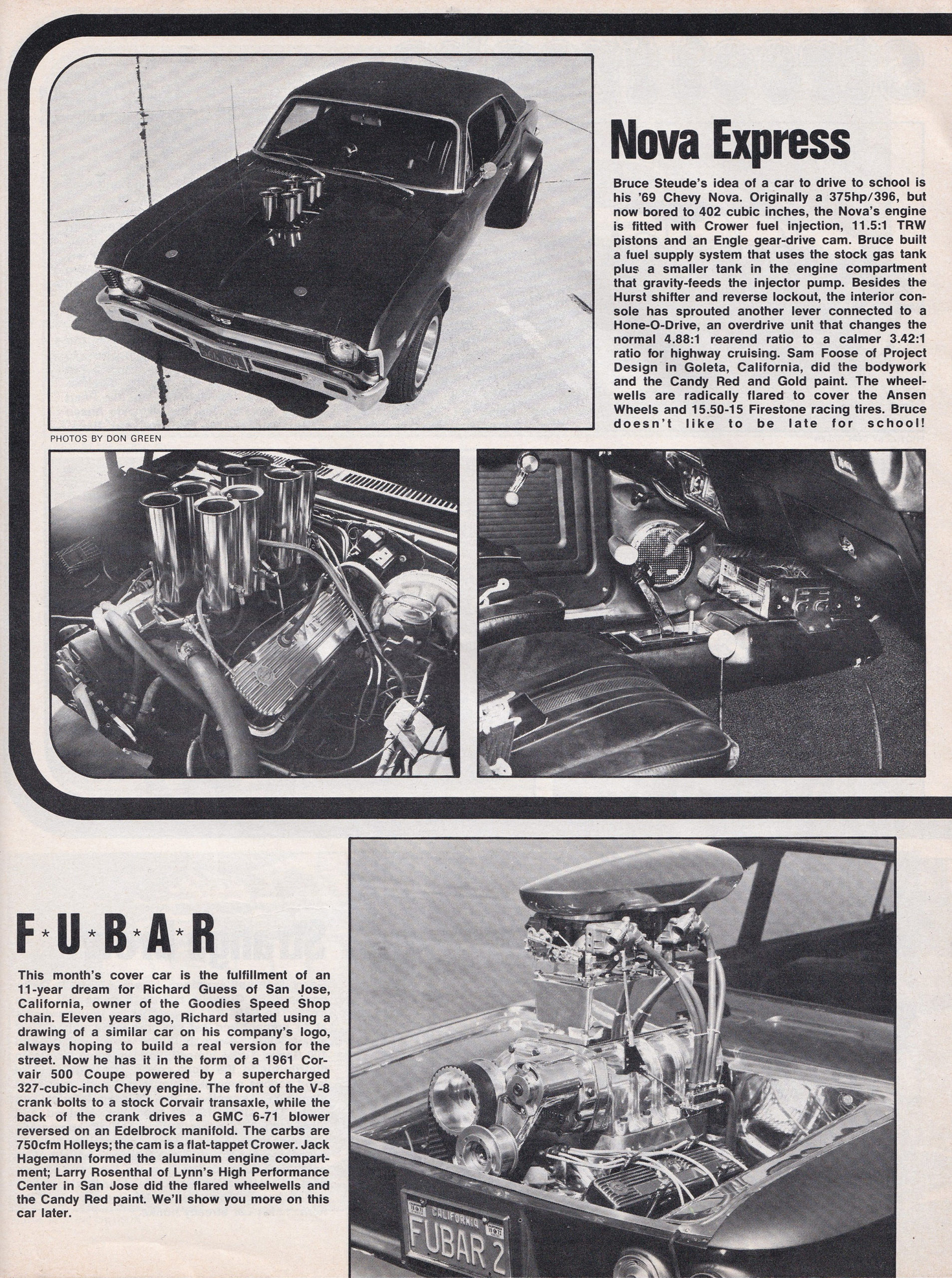 Street Freaks section from June 1972 issue of Car Craft, page 5.