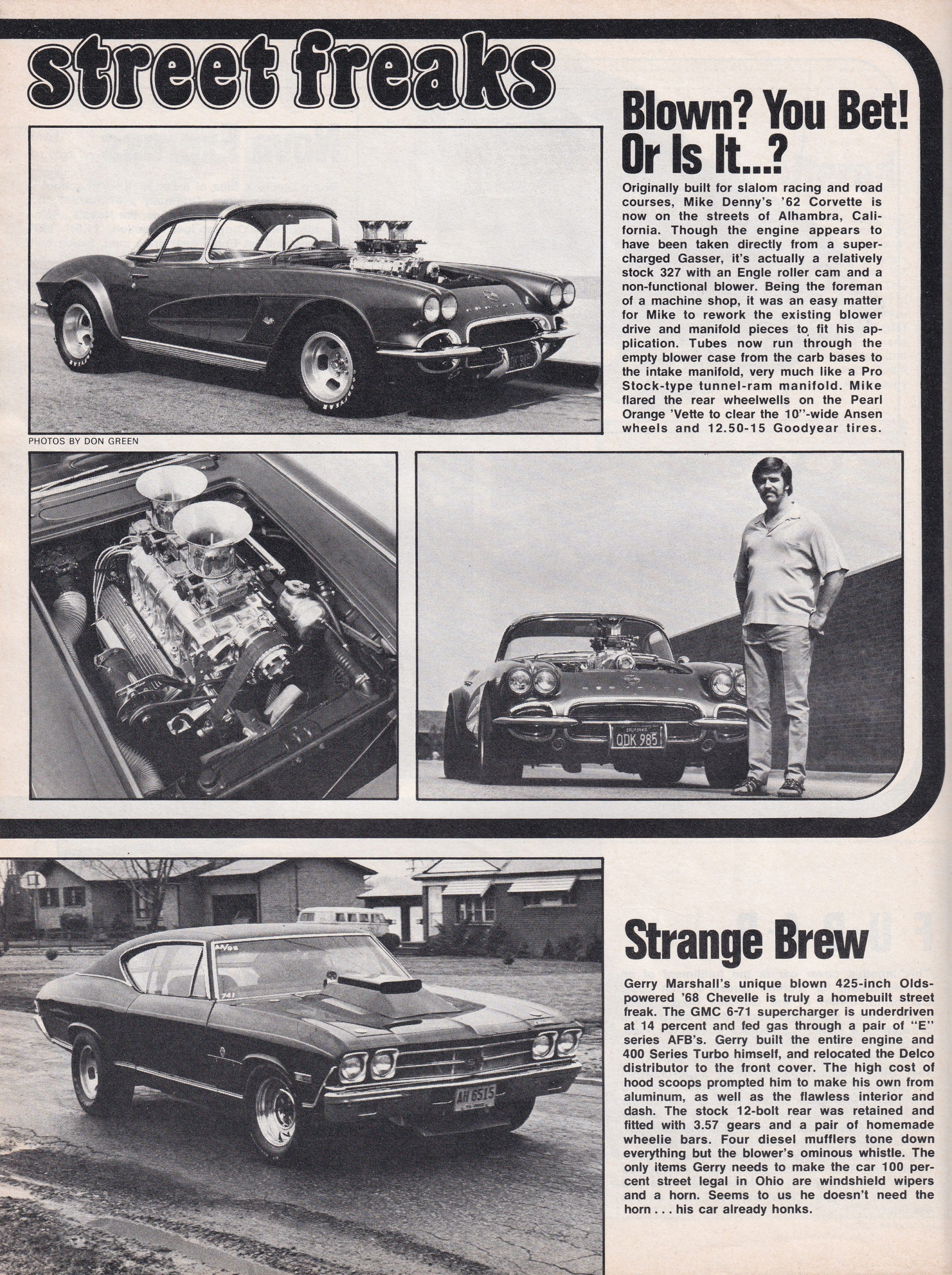 Street Freaks section from June 1972 issue of Car Craft, page 6.