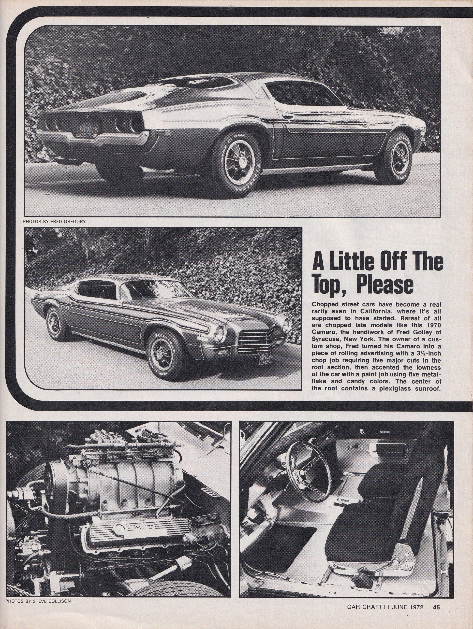 Street Freaks section from June 1972 issue of Car Craft, page 7.