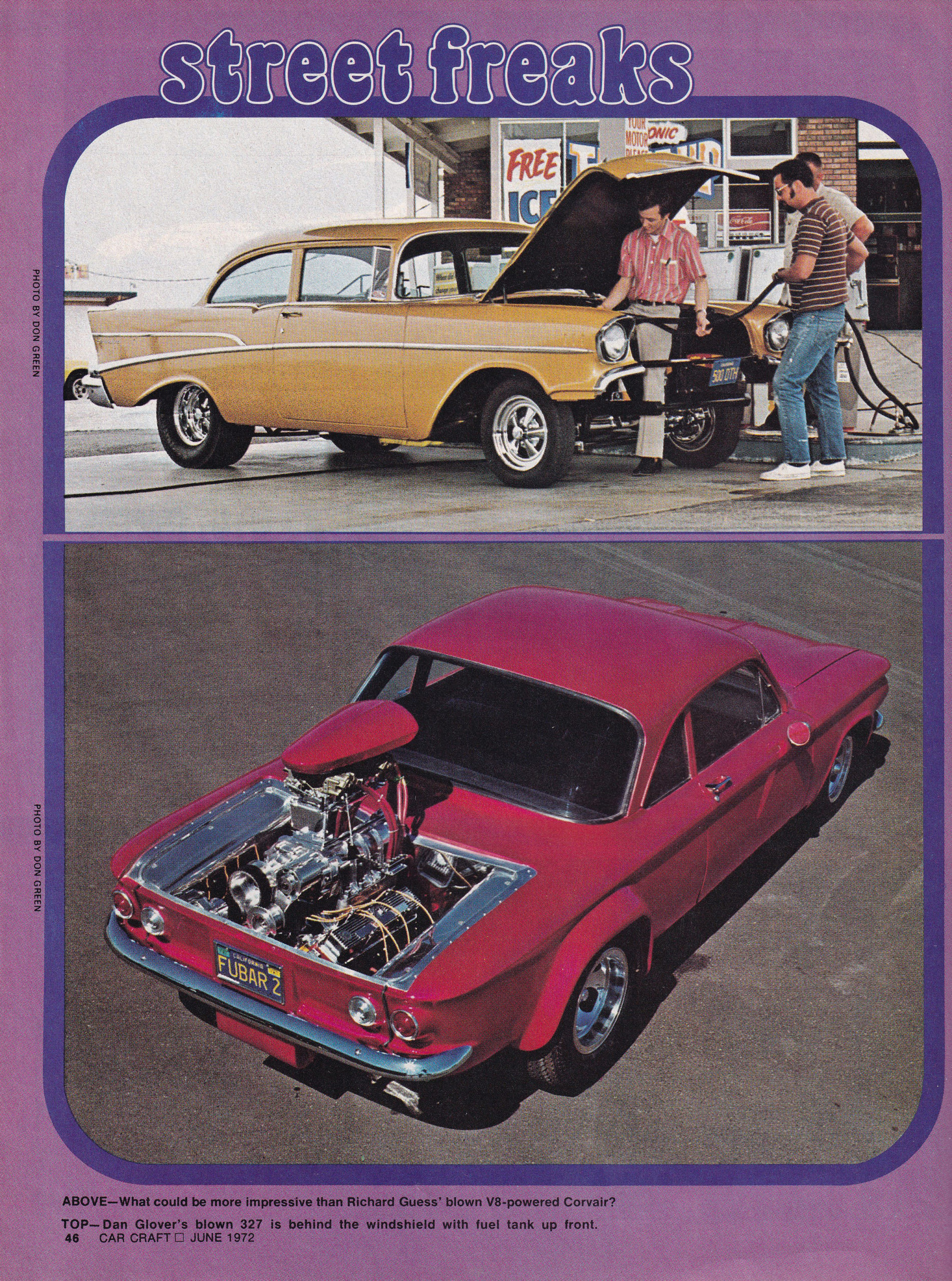 Street Freaks section from June 1972 issue of Car Craft, page 8.