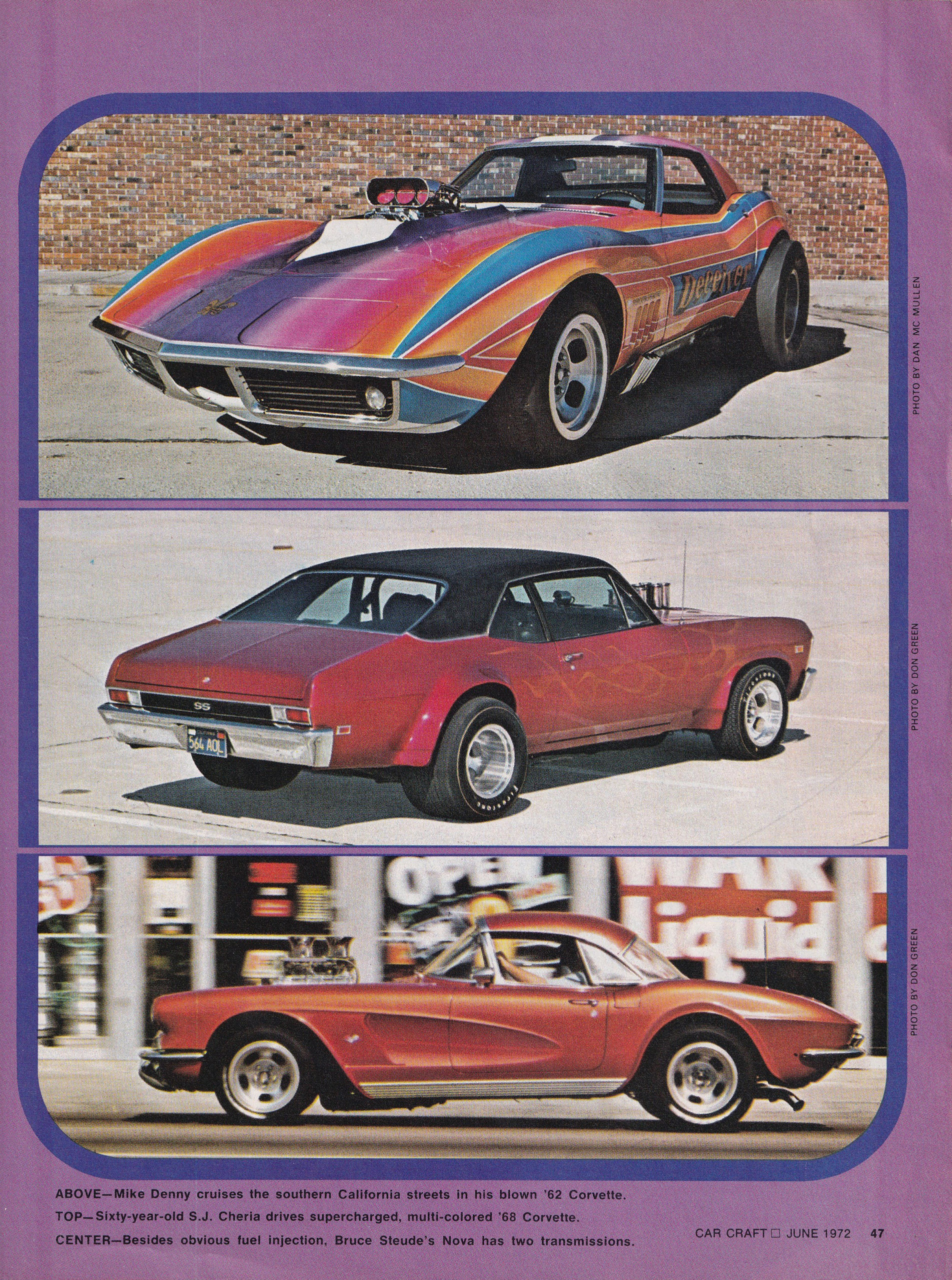 Street Freaks section from June 1972 issue of Car Craft, page 9.