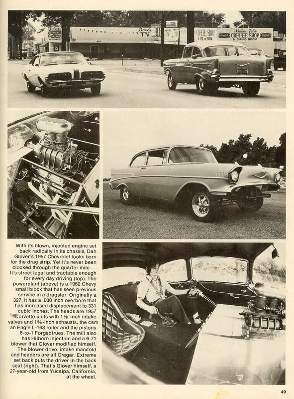 An article about Dan Glover's '57 Chevy freak.