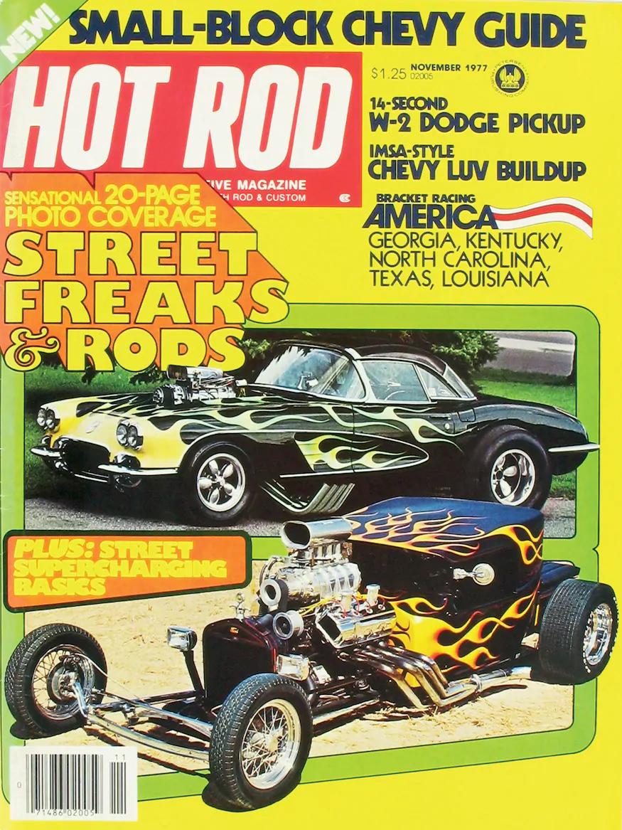 Hot Rod Magazine, November 1977 cover.