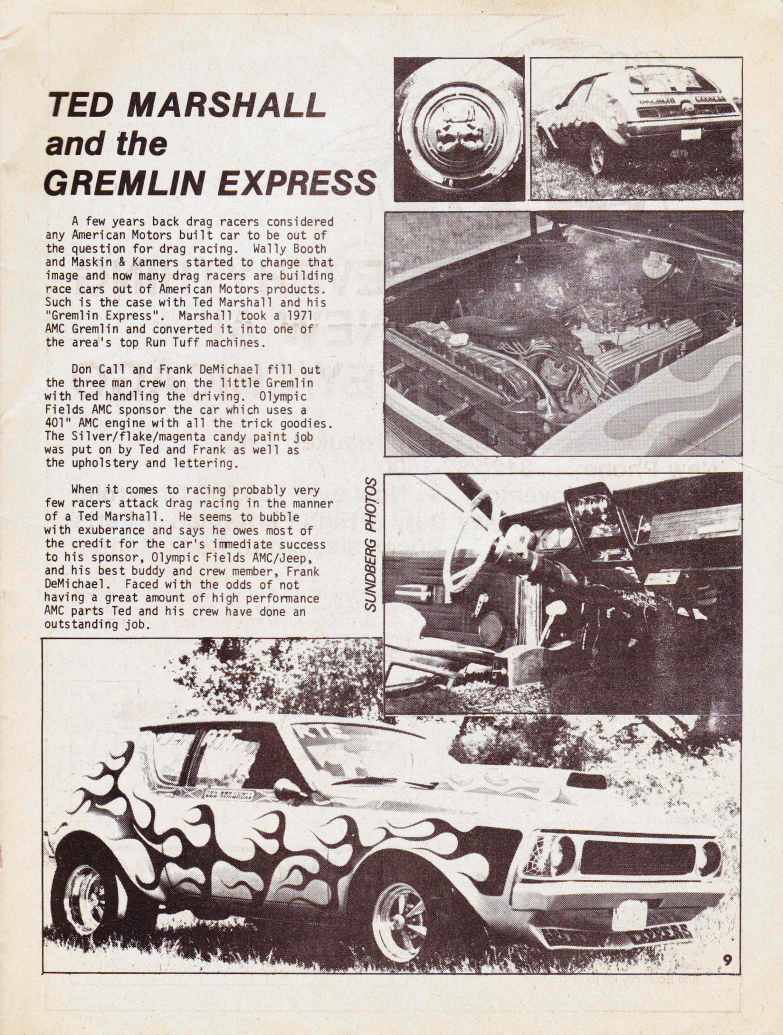 Gremlin Express, article from unknown magazine.