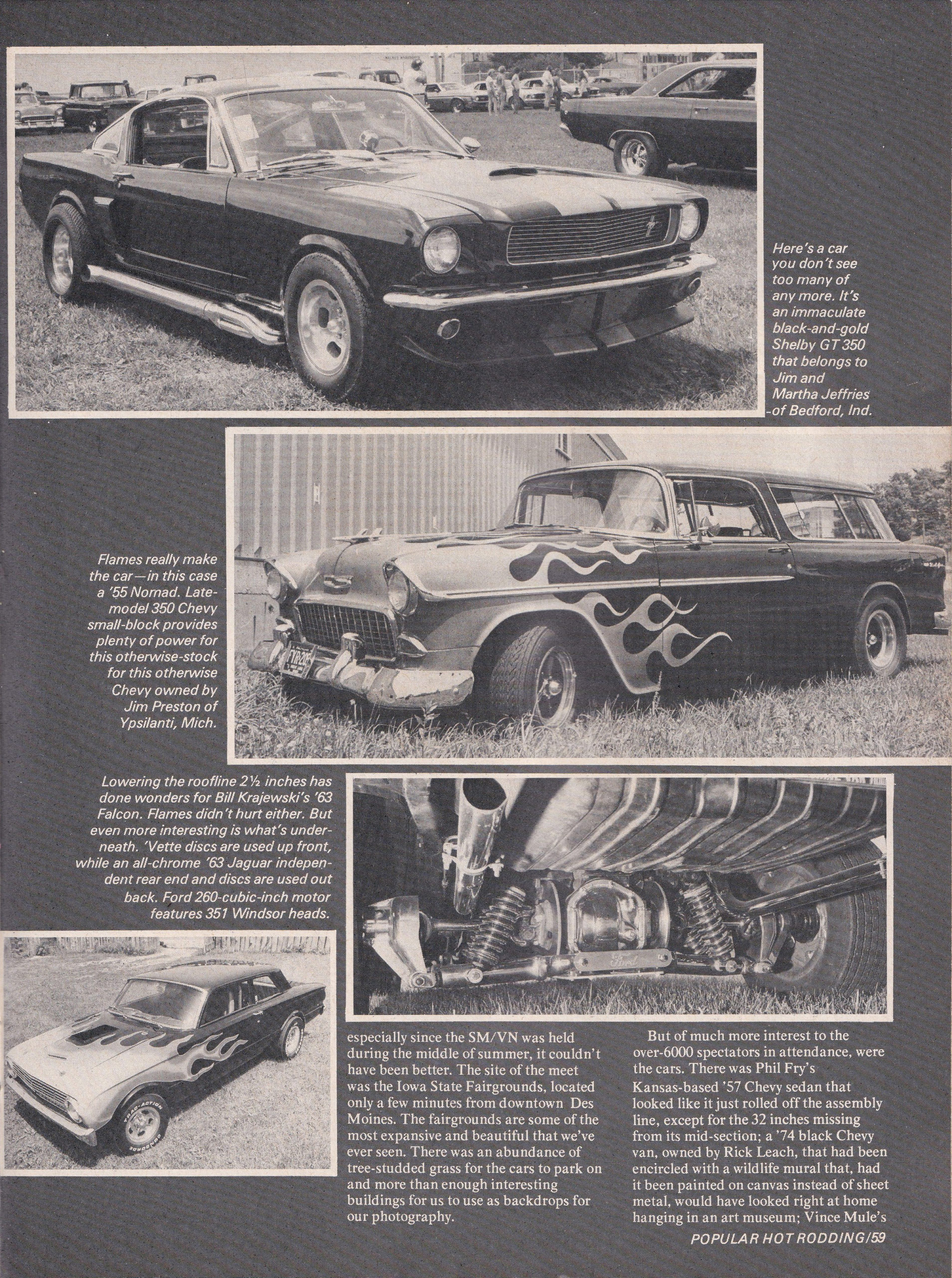 Street Machine / Van Nationals section from October 1975 issue of Popular Hot Rodding, page 4.