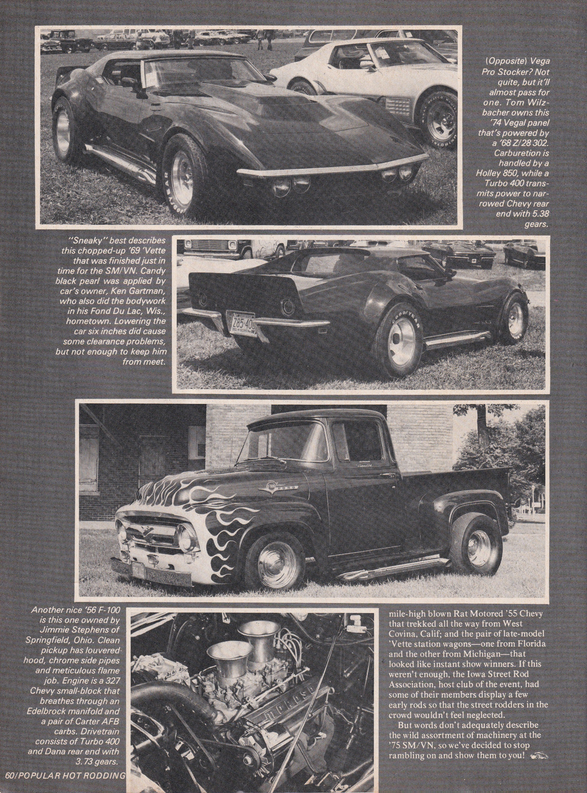 Street Machine / Van Nationals section from October 1975 issue of Popular Hot Rodding, page 5.