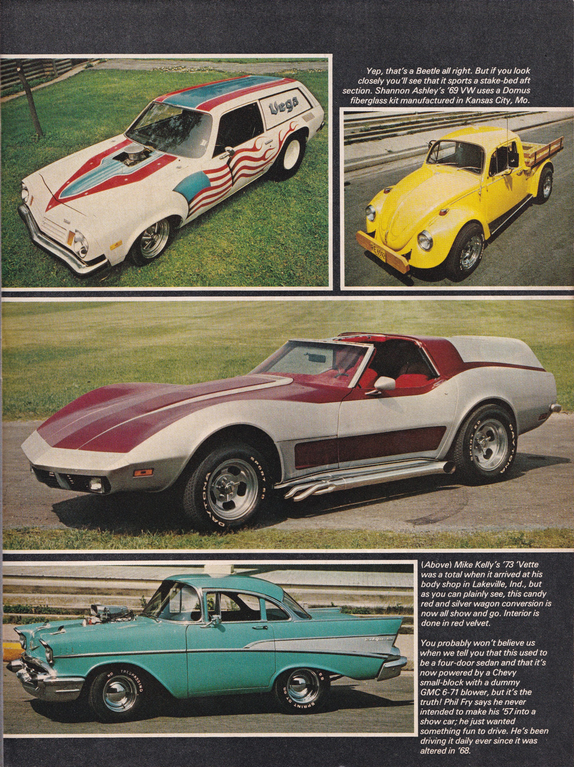Street Machine / Van Nationals section from October 1975 issue of Popular Hot Rodding, page 6.