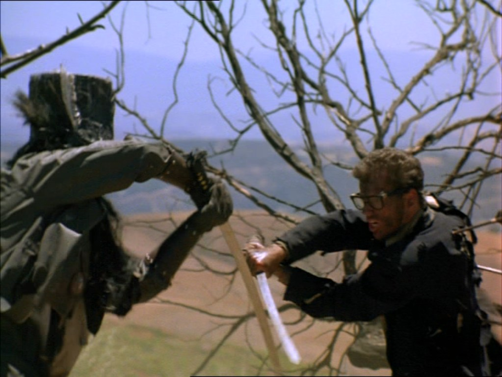 драка на катанах, Шестиструнный самурай, Джеффри Фэлкон