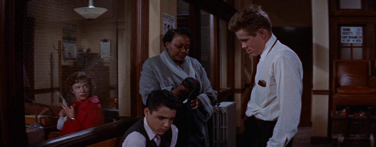 сцена в полицейском участке, Rebel Without A Cause 1955