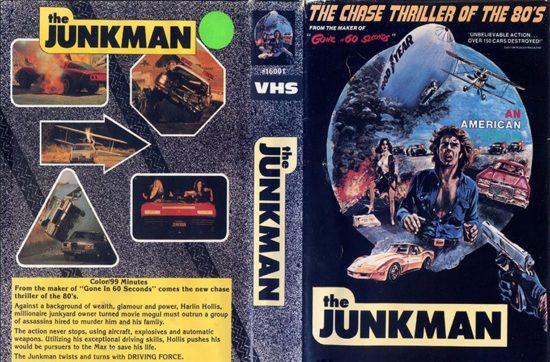 Обложка VHS кассеты с фильмом Старьевщик, The Junkman